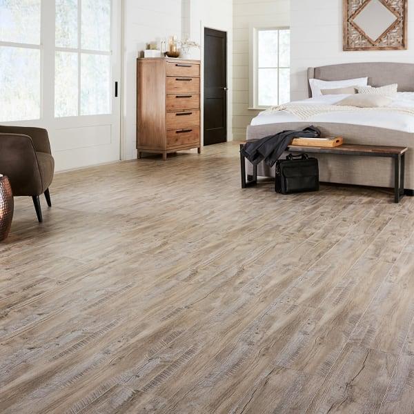 Topsail Oak Laminate Flooring in Bedroom