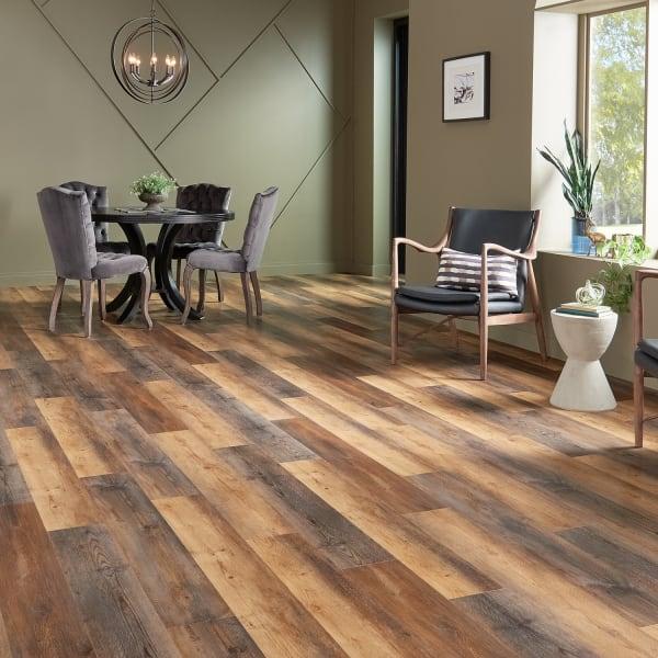 5mm Firefly Pine Engineered Vinyl Plank Flooring in industrial living room
