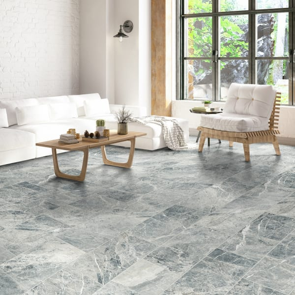 24 in. x 12 in. Cabo Azul Porcelain Tile