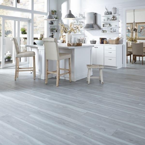 Blue Sands Pine Laminate Flooring in Kitchen