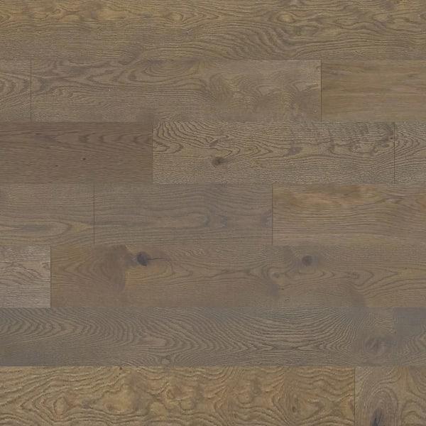 Brown Athens White Oak Engineered Hardwood Flooring in Living Room