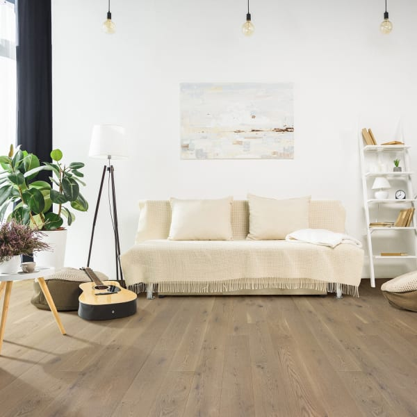 Vienna White Oak Engineered Hardwood Flooring in Living Room