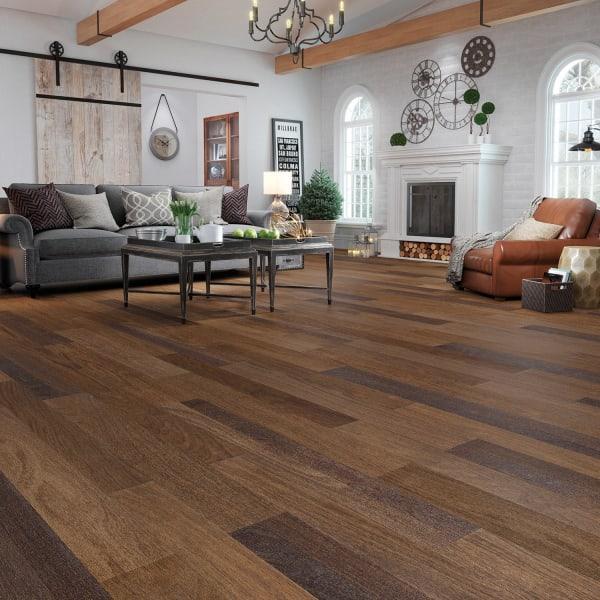 Berkeley Brazilian Oak Engineered Hardwood Flooring in Living Room