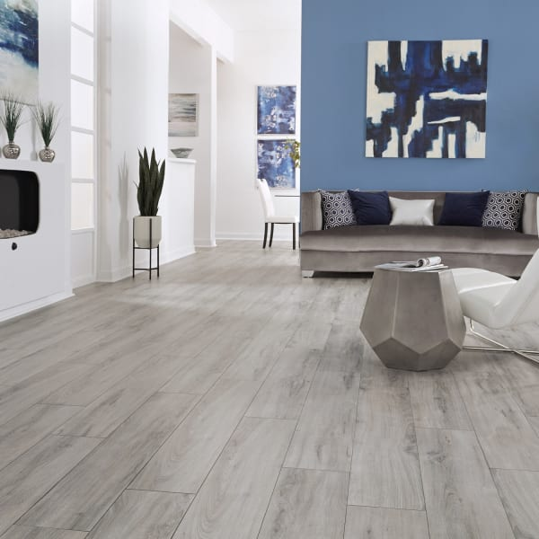 Manchester Oak Laminate Flooring in Living Room, Office, and Bedroom