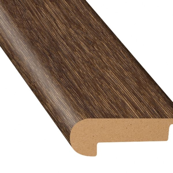 Elusive Brown Oak Laminate Waterproof 2.3 in wide x 7.5 ft Length Low Profile Stair Nose