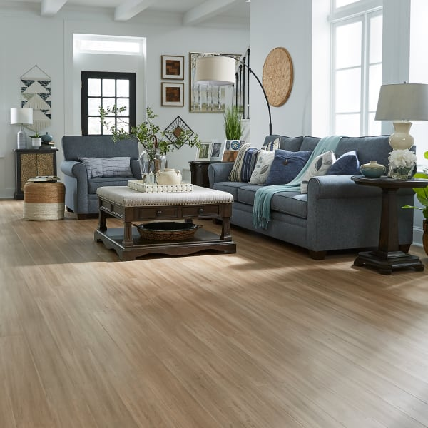 Strand Toffee Engineered Water Resistant Click Bamboo Flooring