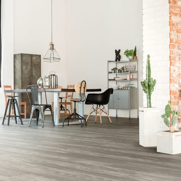 Winterwood Oak Engineered Vinyl Plank Flooring in Dining Room and Entryway