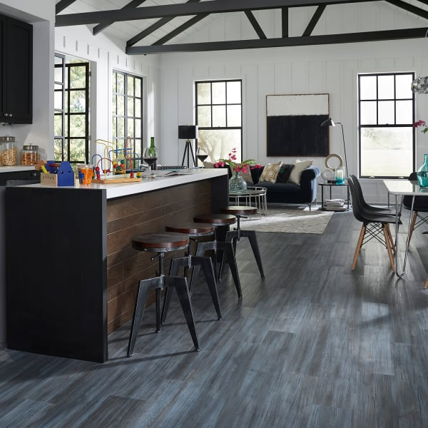 5mm+pad Paris Blue Pine Rigid Vinyl Plank Flooring