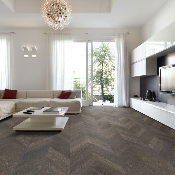 5/8in x 11-1/2in Manhattan Chevron Engineered Hardwood Flooring