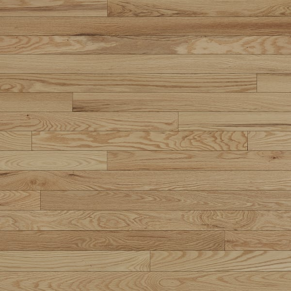 .75 in. x 3 .25 in. Character Red Oak Solid Hardwood Flooring in Play Game Room