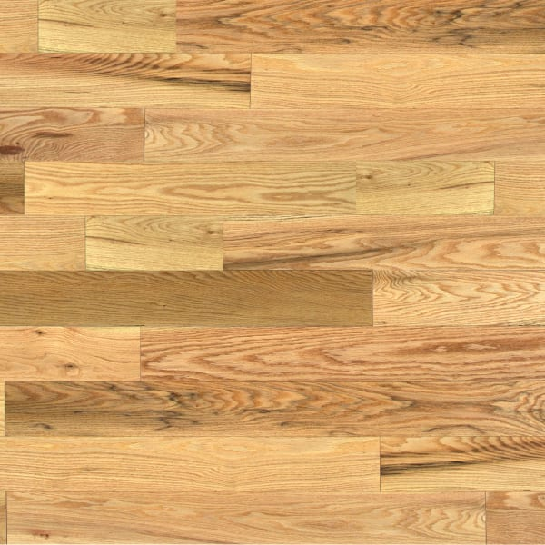 .75 in. x 5 in. Character Red Oak Solid Hardwood Flooring Large Swatch