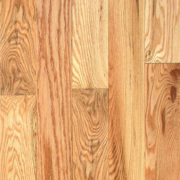 .75 in. x 5 in. Character Red Oak Solid Hardwood Flooring Small Swatch