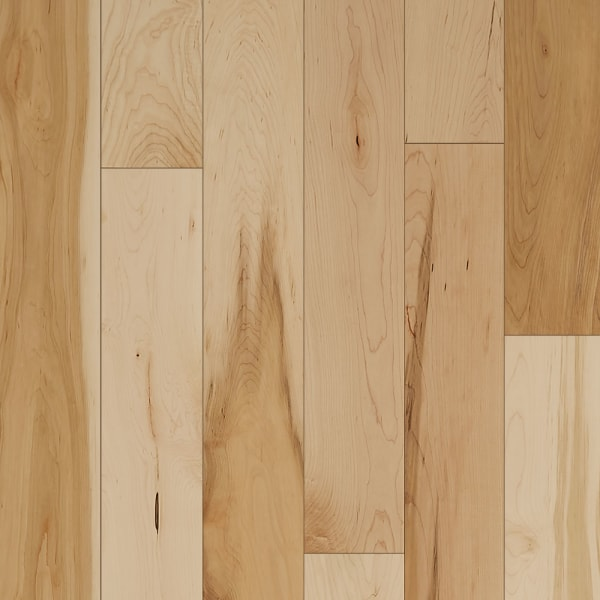 .75 in. x 5 in. Character Maple Solid Hardwood Flooring Small Swatch