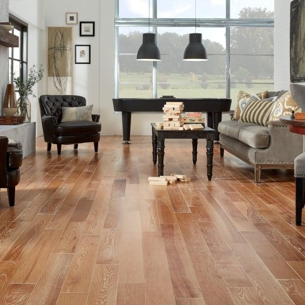 North Hamption Hickory Solid Hardwood Flooring in Living Room