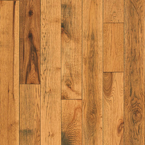 .75 in. x 5 in. Pepperell Hickory Solid Hardwood Flooring