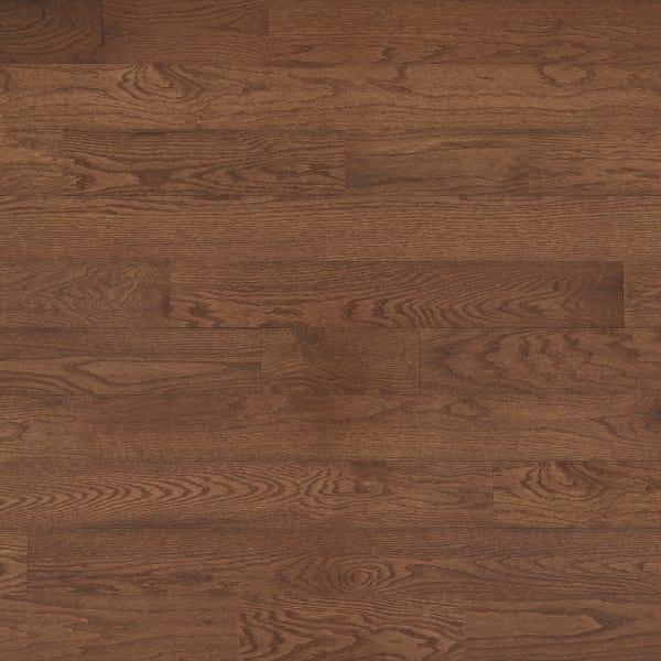 .75 in. x 5 in. Saddle Oak Solid Hardwood Flooring Large Swatch