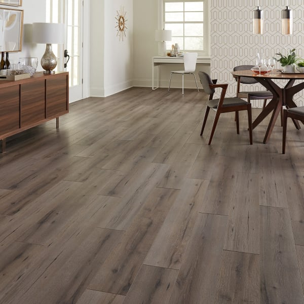 Pike Place Ash Laminate Flooring in Living Room