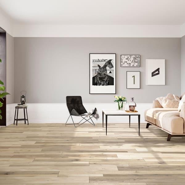 Hannigan Oak Laminate Flooring in Living Room