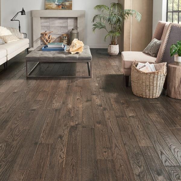 Exeter Oak Solid Hardwood Flooring in Living Room