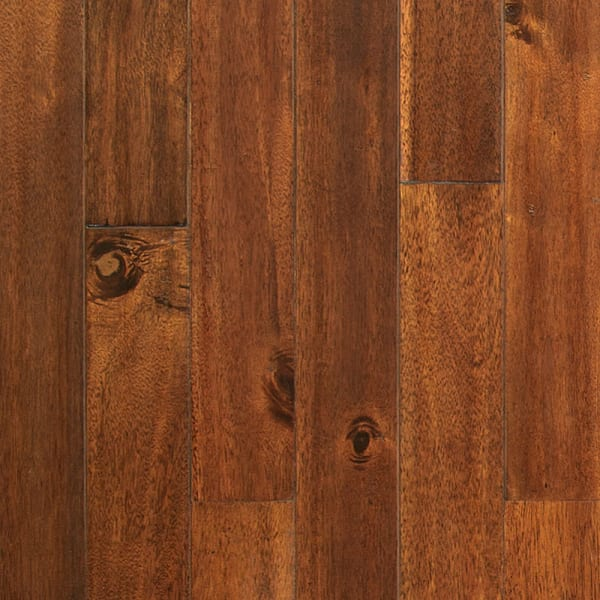 Red Brown Hazelnut Acacia Distressed Solid Hardwood Flooring Small Swatch