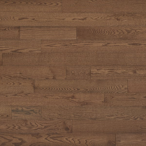 .75 in. x 5 in. Saddle Oak Solid Hardwood Flooring in Rustic Traditional Bedroom Large Swatch