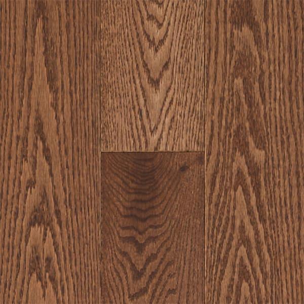 .75 in. x 5 in. Saddle Oak Solid Hardwood Flooring in Rustic Traditional Bedroom Swatch