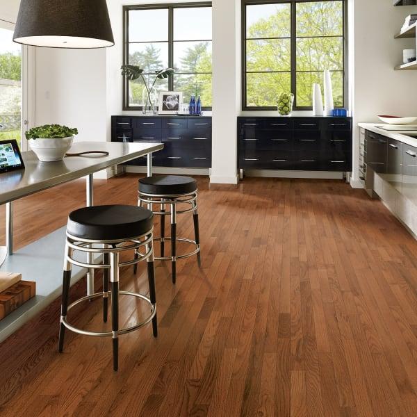 Gunstock Oak Solid Hardwood Flooring in Kitchen