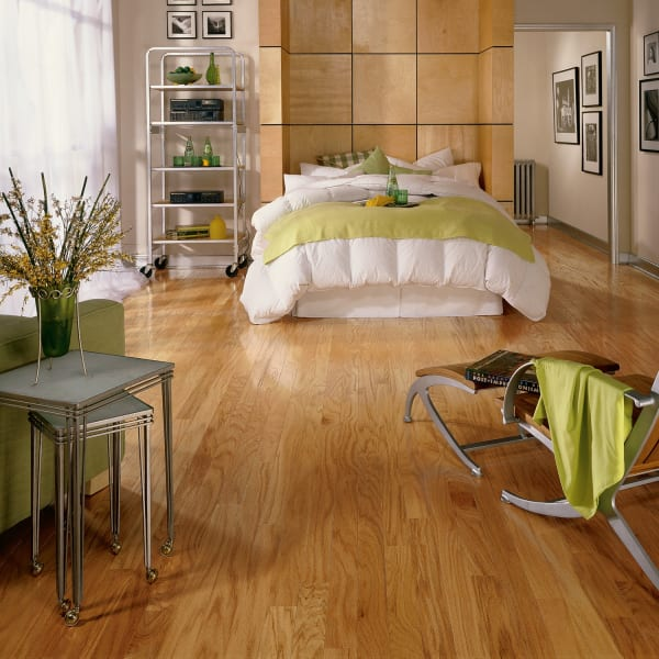 Warm Spice Oak Solid Hardwood Flooring in Bedroom
