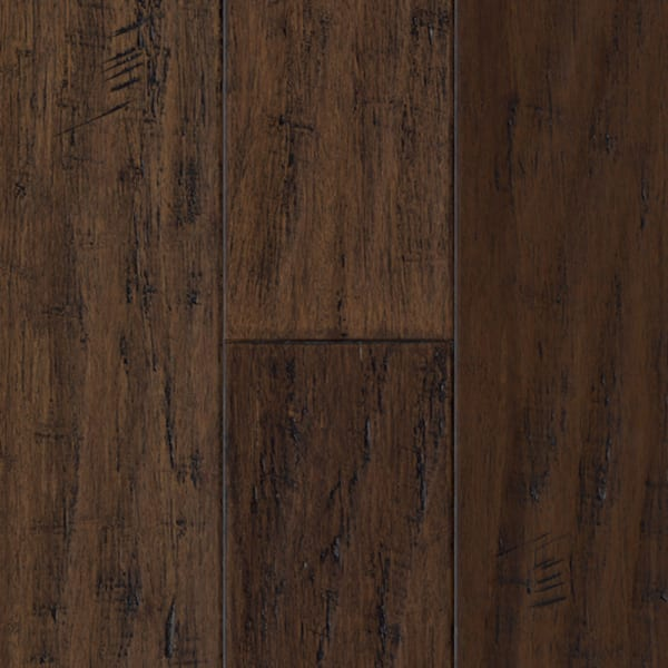 Madison County Strand Distressed Wide Plank Engineered Click Bamboo Flooring