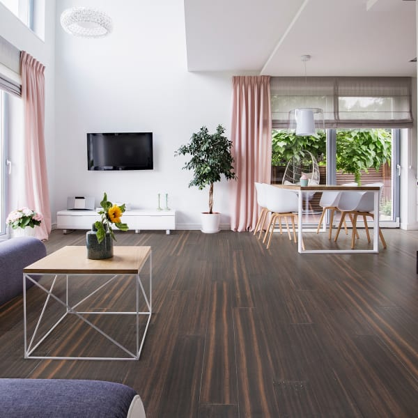 Portland Strand Solid Bamboo Flooring in Living Room