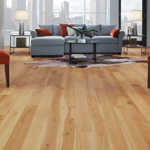 Bellingham Distressed Solid Hardwood Flooring in Living Room