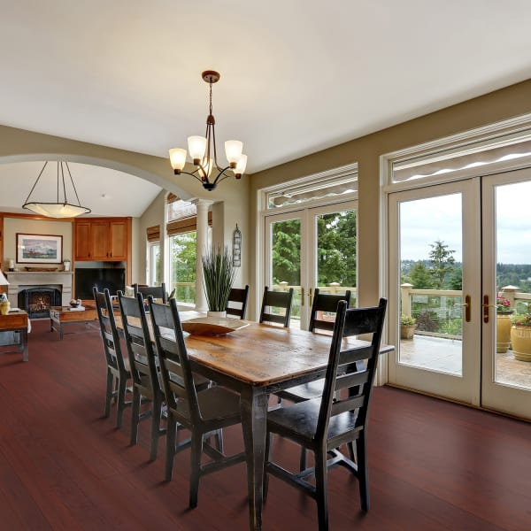 Porto Ferry Strand Wide Plank Engineered Bamboo Flooring  in Dining Room