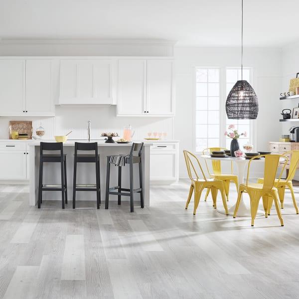 Mont-Blanc Pine Engineered Vinyl Plank Flooring in Kitchen