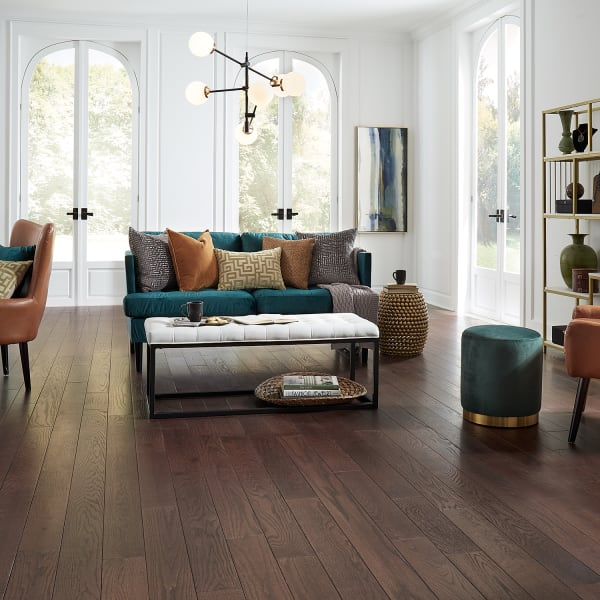 .75 in. x 5 in. Stratford Oak Distressed Solid Hardwood Flooring