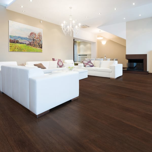 Strand Kona Engineered Click Bamboo Flooring in Living Room