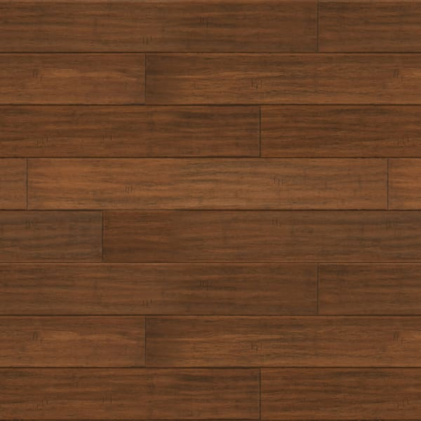 Bismark Strand Distressed Wide Plank Engineered Click Bamboo Flooring in Rustic Living Room Large Swatch
