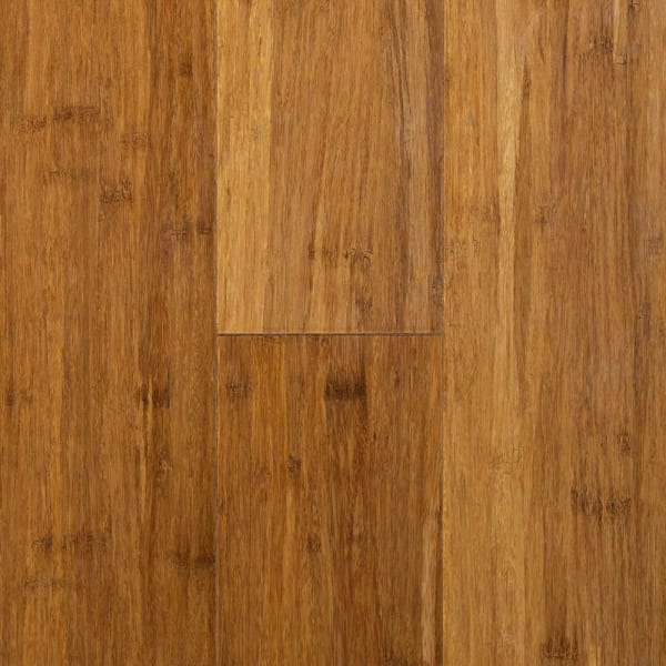 Carbonized Strand Smooth Wide Plank Engineered Click Bamboo Flooring Swatch