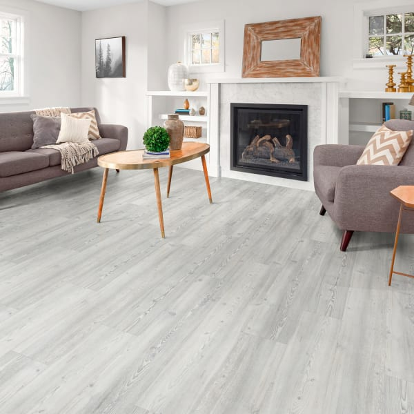 12mm Frosted Pine Laminate Flooring in Costal Living Room