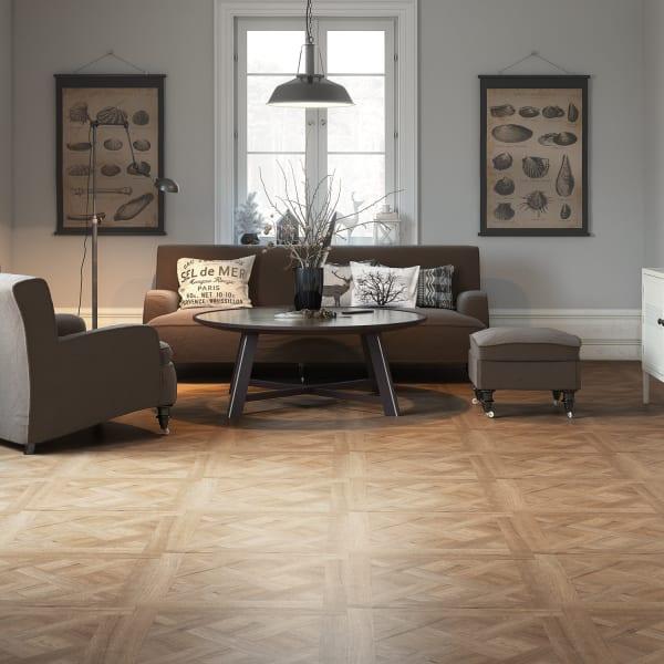Draper Parquet Laminate Flooring in Living Room