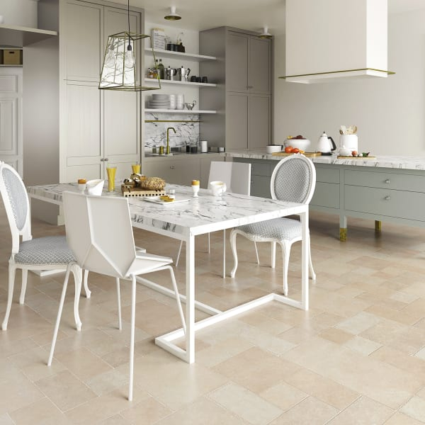 Terrace Stone Laminate Flooring in Kitchen and Dining Room