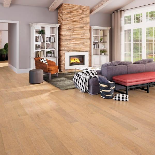 Bandera Brazilian Oak Quick Click Engineered Hardwood Flooring in Living Room