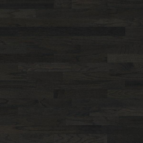 Onyx Oak Black Engineered Hardwood Flooring in Modern Living Room Large Swatch