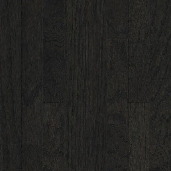 Onyx Oak Black Engineered Hardwood Flooring in Modern Living Room Swatch