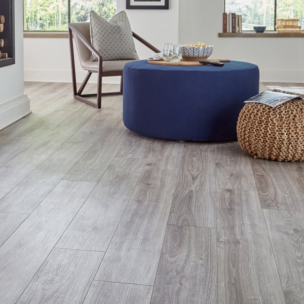 12mm with pad Seashell Oak 24 Hour Water-Resistant Laminate Flooring