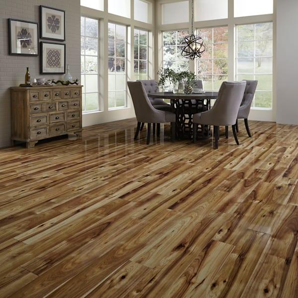 12mm Heard County Hickory High Gloss Laminate Flooring