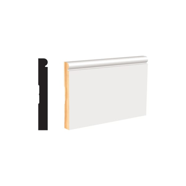 White Molding and Trim Baseboard 4-1/4""