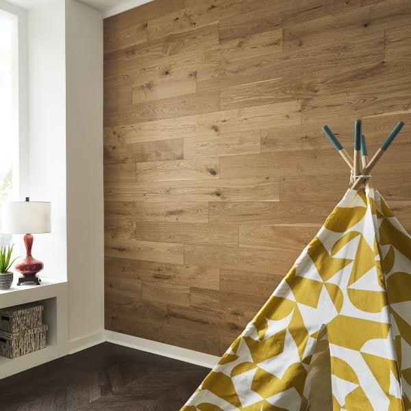 Blue Ridge Oak Wire Brushed Engineered Hardwood Flooring in Playroom