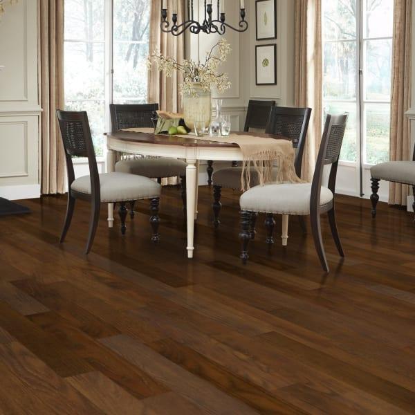 Redwood Hickory Luxury Vinyl Plank Flooring in Dining Room