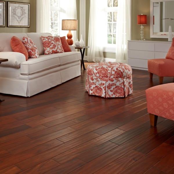 Golden Acacia Easy Click Engineered Hardwood Flooring in Living Room