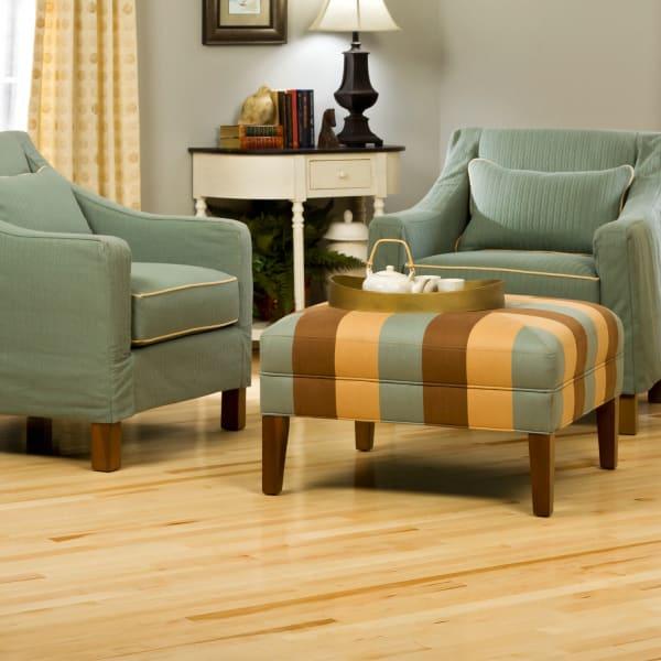 .75 in. x 2 .25 in. Millrun Maple Solid Hardwood Flooring in Traditional Living Room